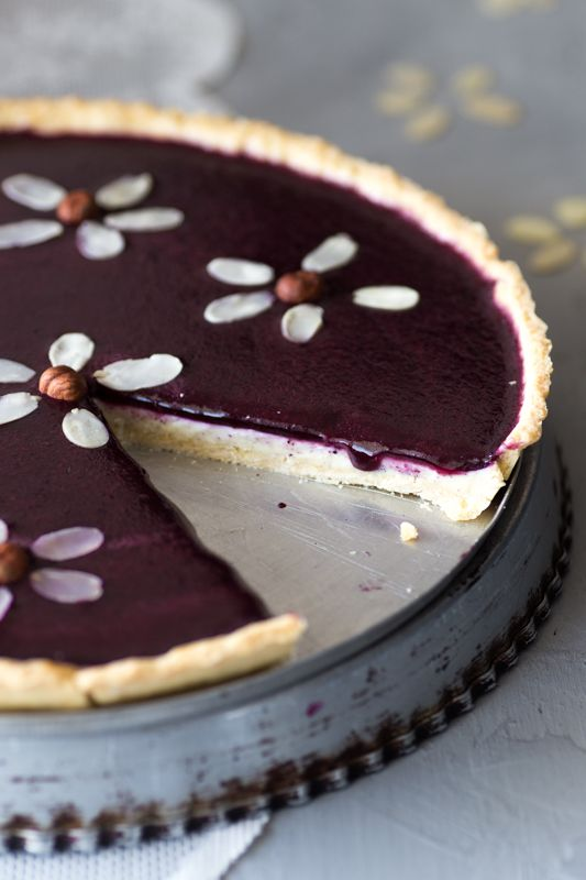 Photo of Pannacotta tart with wild blueberries ⋆ Marylicious