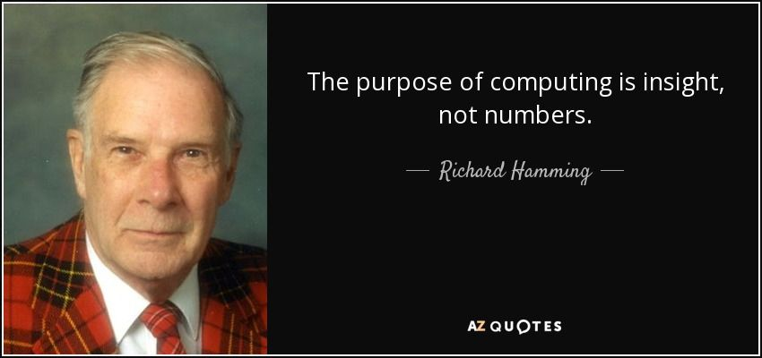 Top 25 Quotes By Richard Hamming A Z Quotes 25th Quotes Rare Quote Quotes