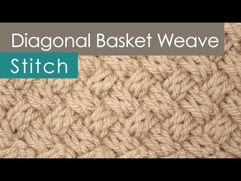 How to Knit the Basket Weave Stitch | Diagonal Braided + Woven ...