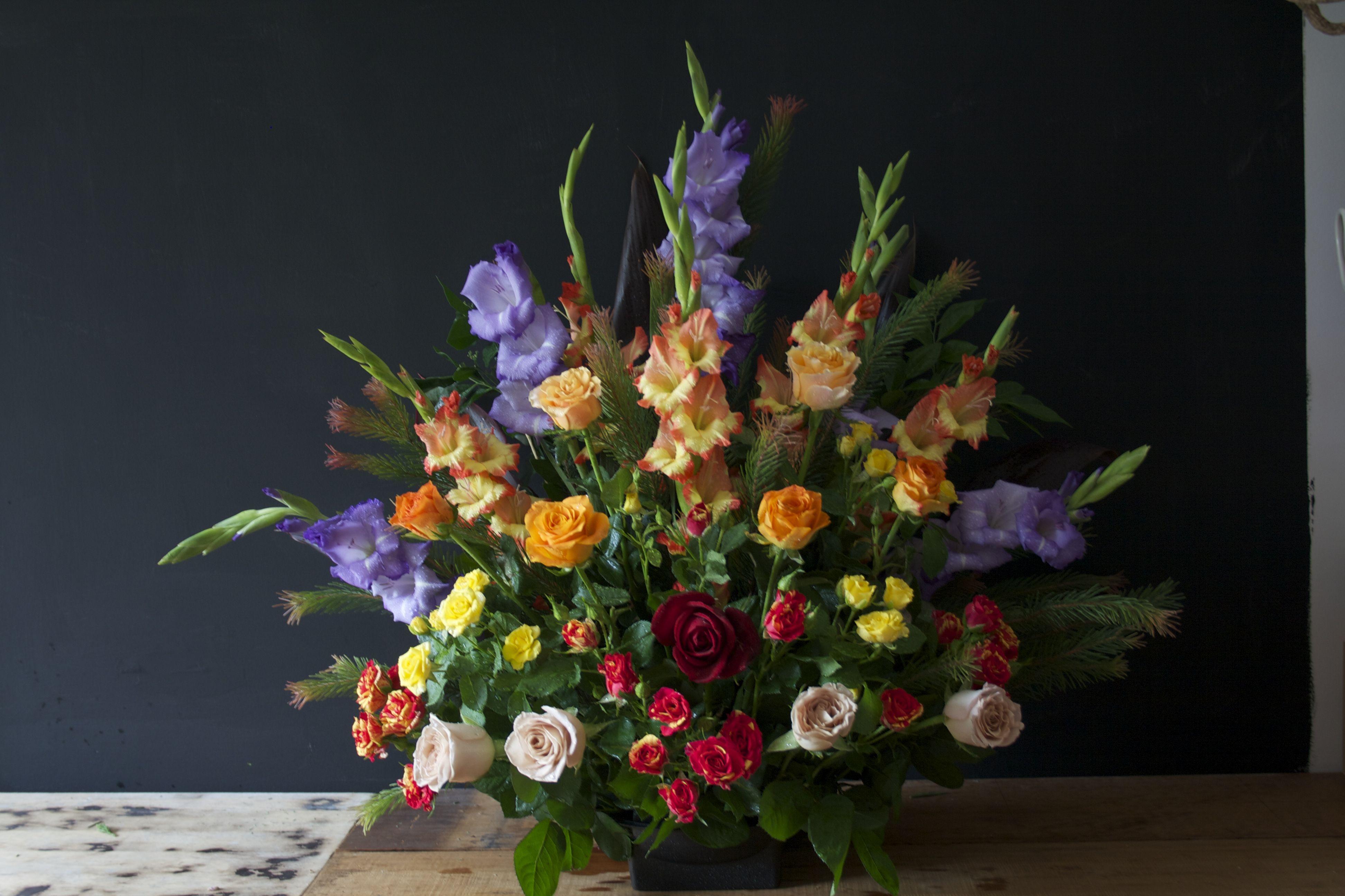 Front Facing Bright Flower arrangement