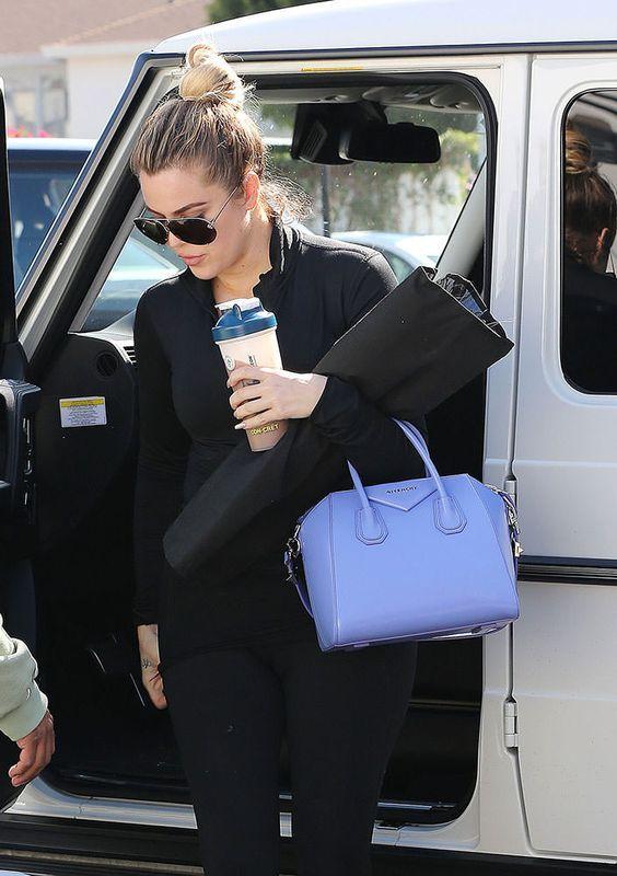879b7df1d7 Khloe Kardashian Givenchy Antigona Small Bag