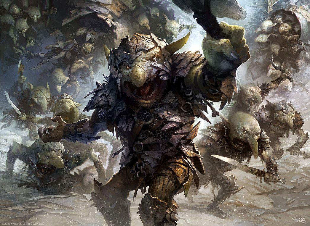 Goblin Rabblemaster by velinov on deviantART
