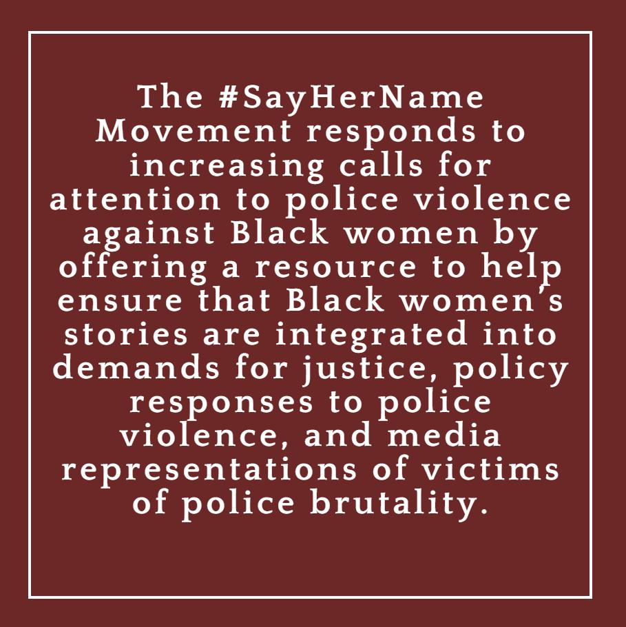 #SayHerName Campaign