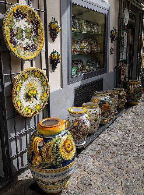 Ceramics in Ravello, Amalfi Coast, Italy