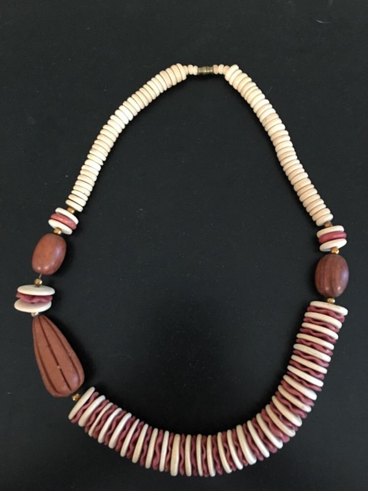 BoHo Hippie African Bead Style Large Bead Necklace 24\
