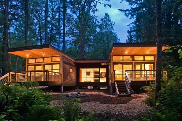 Les maisons modulaires les habitations modernes en pleine nature maison for Maison modulaire contemporaine