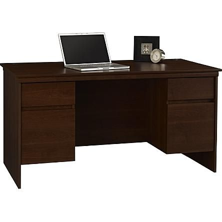 Sears Ameriwood Excecutive Desk Resort Cherry Desk With File Drawer Desk Desk With Drawers