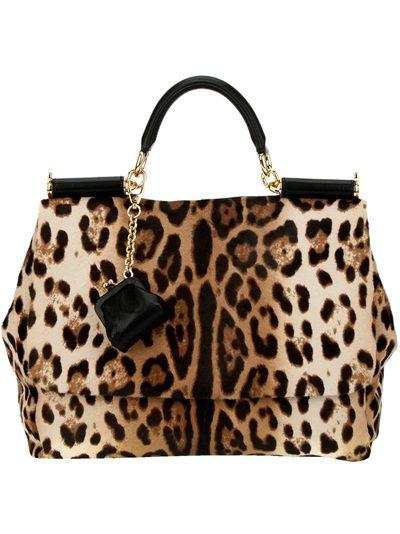 Dolce Gabbana Leopard Print Tote
