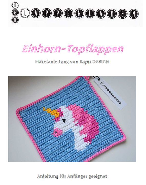 Unicorn Potholder Crochet Pattern - for beginners | Häkel ...