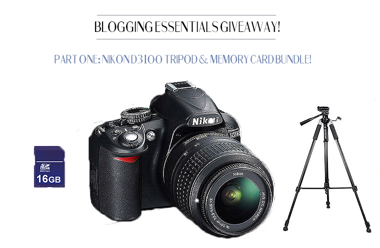 Kiss Me Darling GIVEAWAY HUGE blog giveaway!! NikonD3100, tripod, memory card bundle. ENTER NOW!!!!