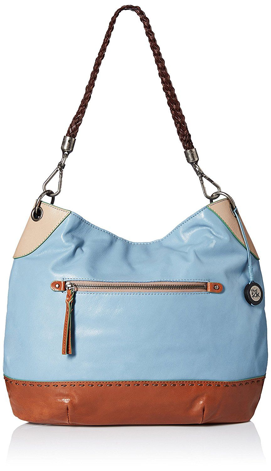 5fb3e645e67f New The Sak Indio Leather Hobo Bag Purse Satchel Handbag Pocketbook Harbour  Blue
