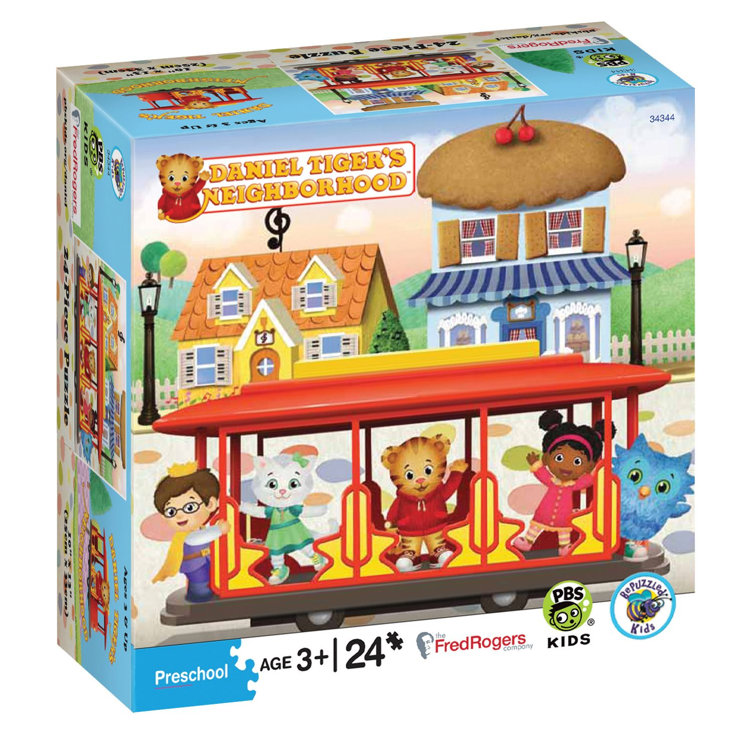 daniel tiger u0027s 24pc puzzle trolley pbs kids kids shop and