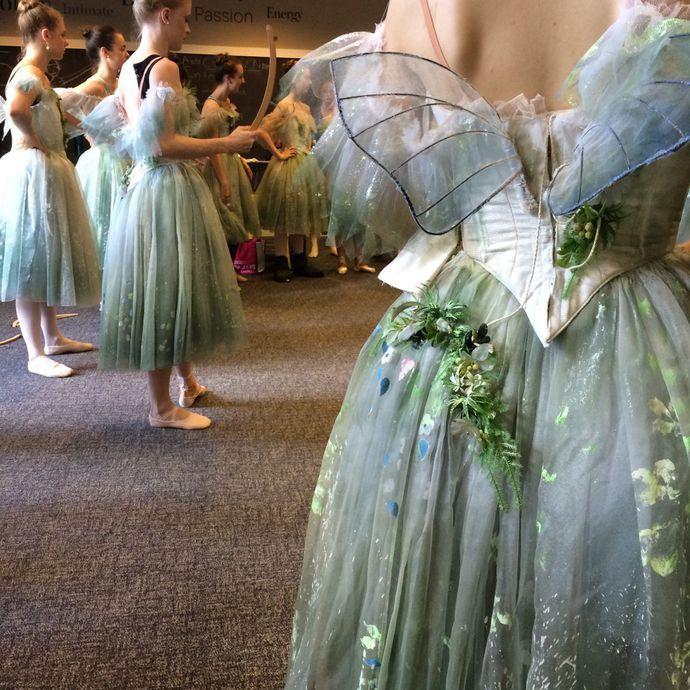 So pretty! Love the green shading La Sylphide, costume fittings - romantic halloween ideas