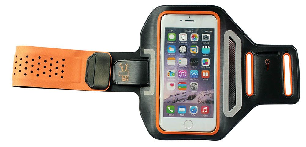 ORANGE New Running ultra thin slim sport armband for