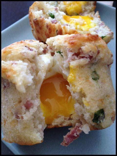 Un muffin avec un oeuf dedans !