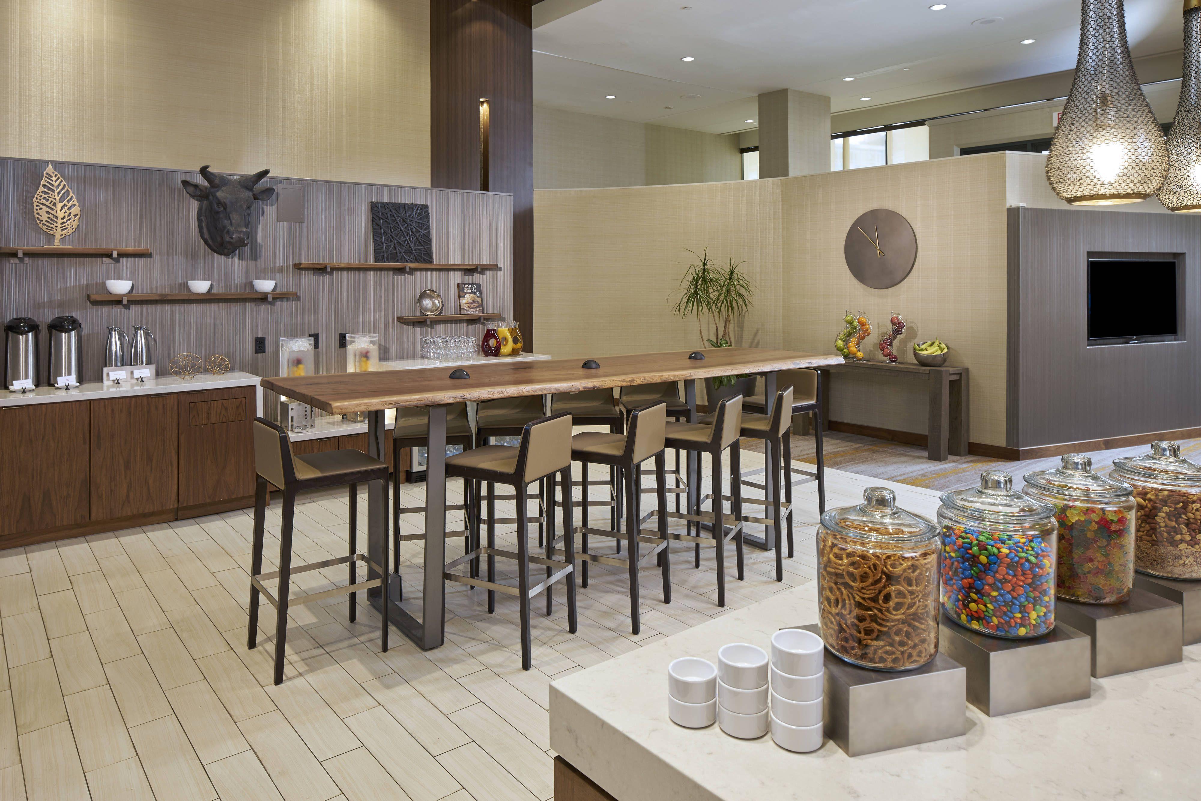 Durham Marriott City Center M Club Lounge Dining Area Enjoy