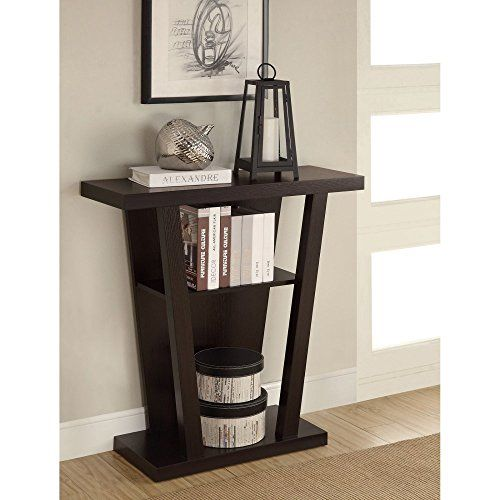 awesome Coaster Company of America Cappuccino Wood Console Table