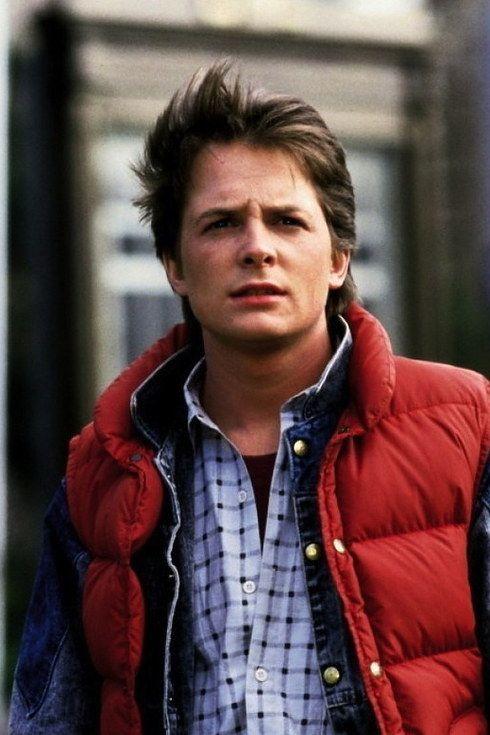 Michael J Fox As Marty Mcfly Con Imagenes Volver Al Futuro
