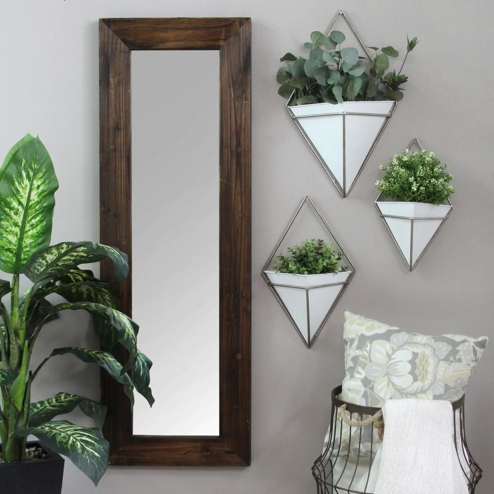 Homeroots White Wall Planters Wall Art 321291 In 2020 Metal Wall Planters White Planters Greenery Decor