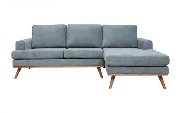 Cruze 2 Seater Chaise Rhf Holly Dusty Fabric Sofas Sofabeds