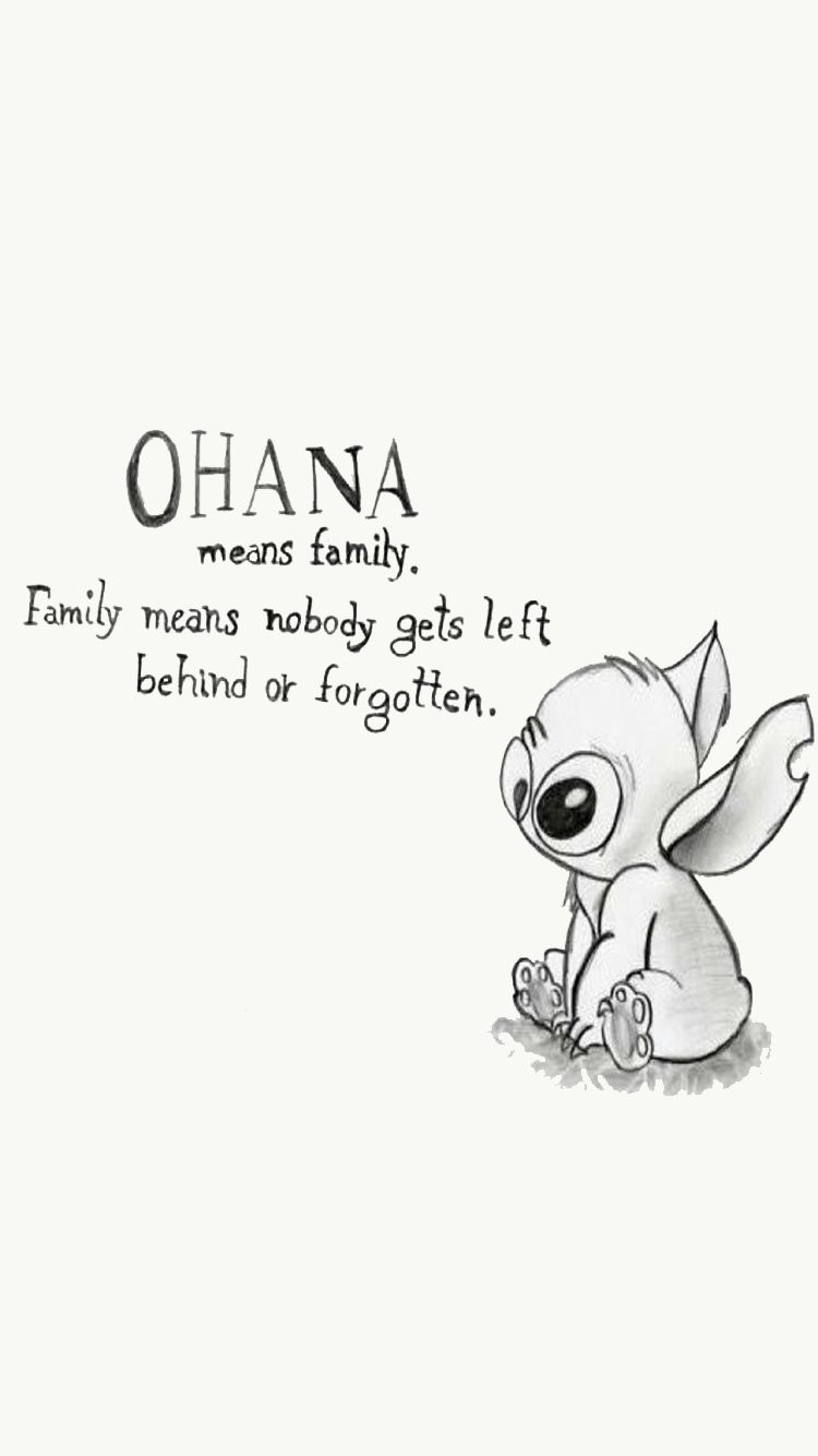 Lockscreens Homescreens Stitch Drawing Lilo And Stitch Quotes Disney Wallpaper