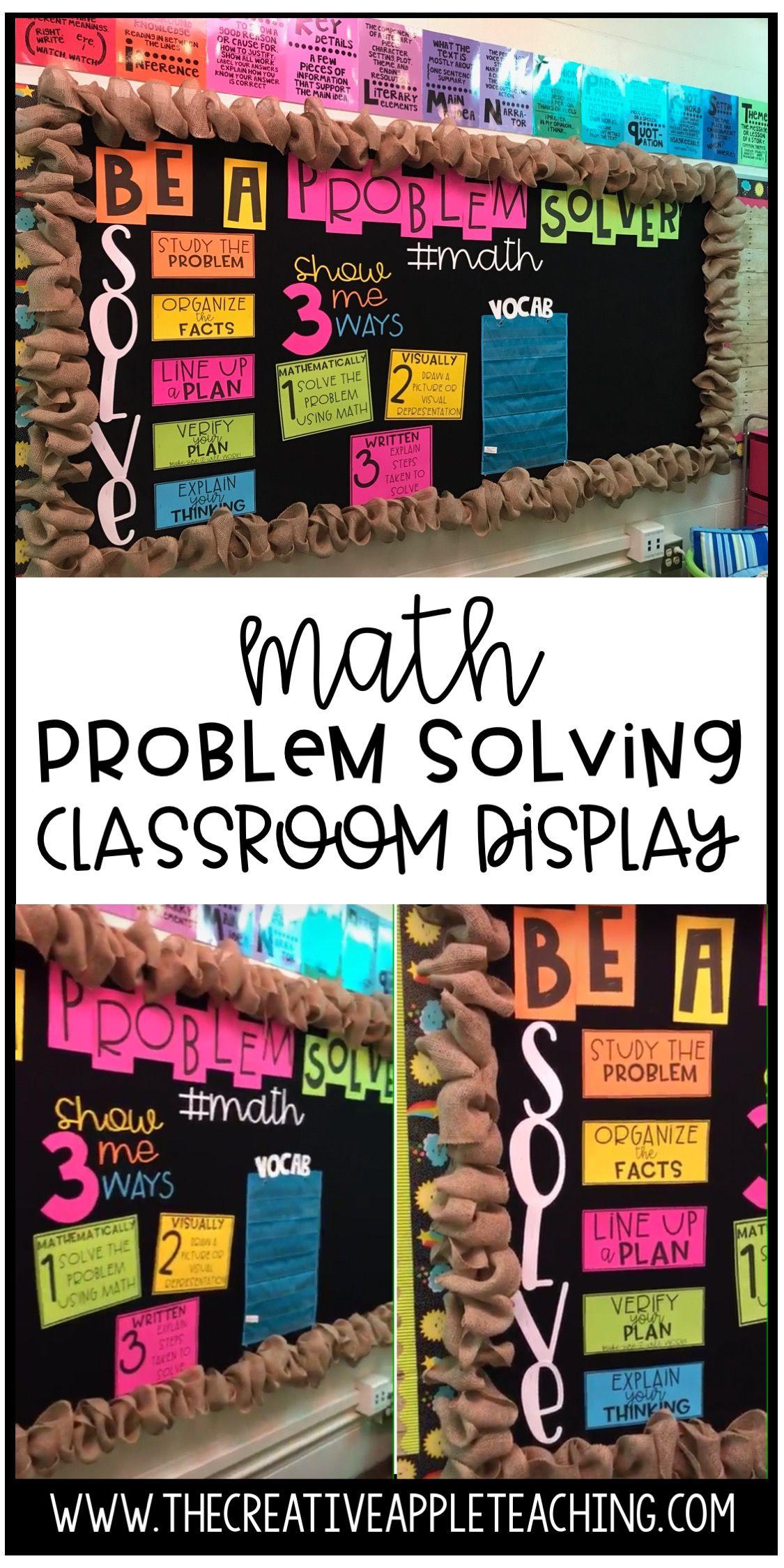 Planning Your Classroom Design Math Problem Solving Elementary Math Classroom Math Classroom Decorations