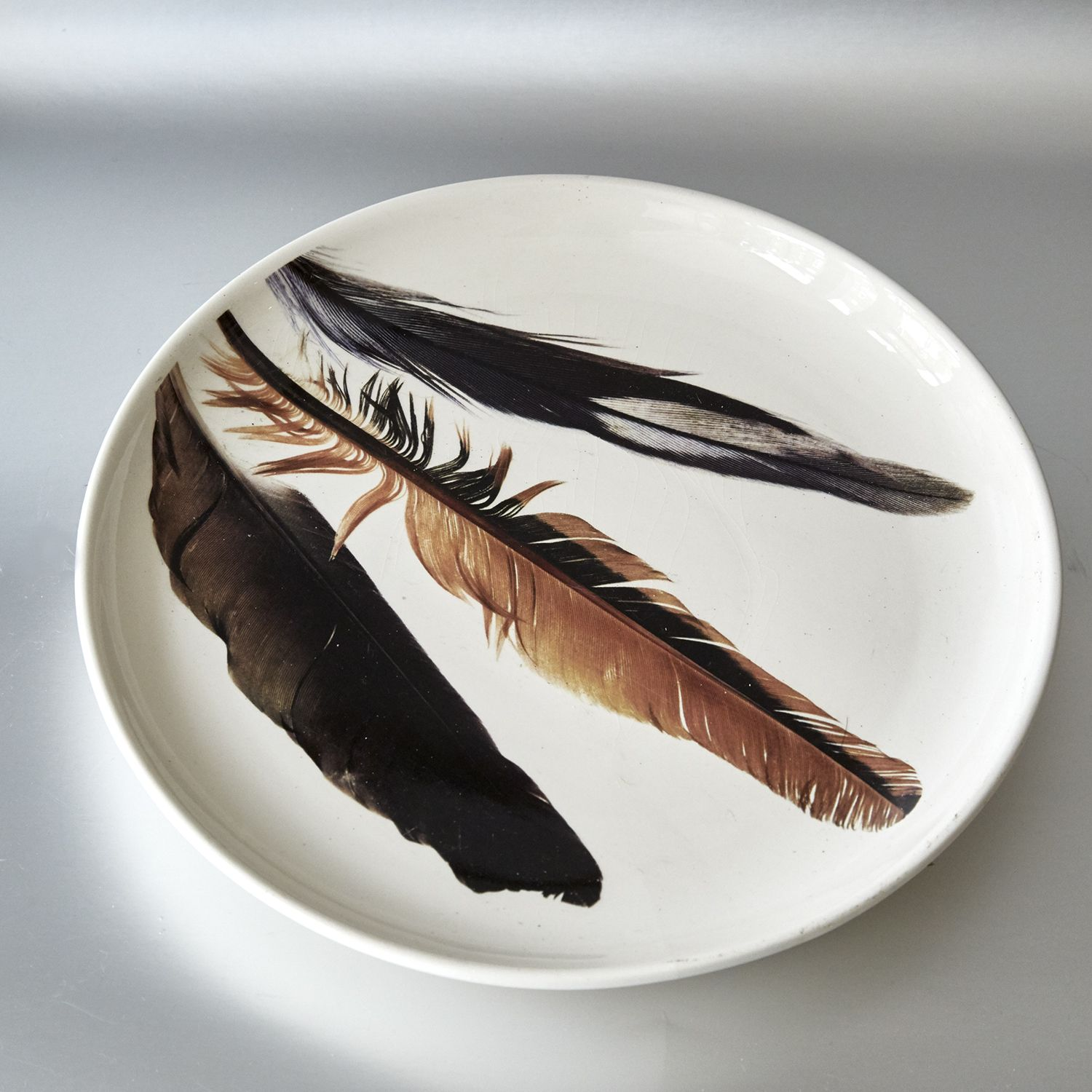 Feather Plate - Unusual dinner plate - Can also be used on the wall as & Feather Plate: - Unusual dinner plate - Can also be used on the wall ...