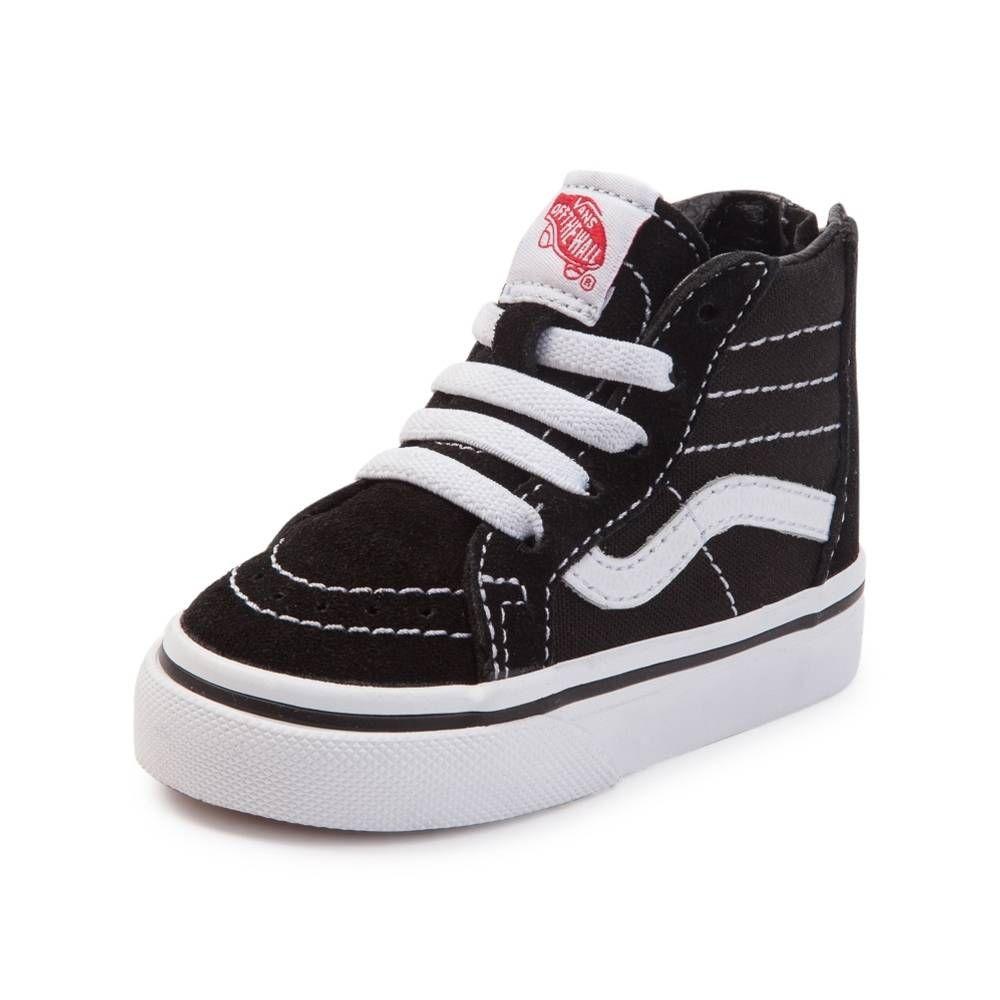 Vans Sk8 Hi Skate Shoe Baby Toddler Black | Moda para