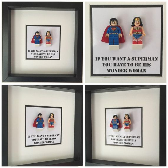 Superman and wonder woman minifigure frame mum by figurethatbox batman and robin quote minifigure frame mum gift by figurethatbox negle Choice Image