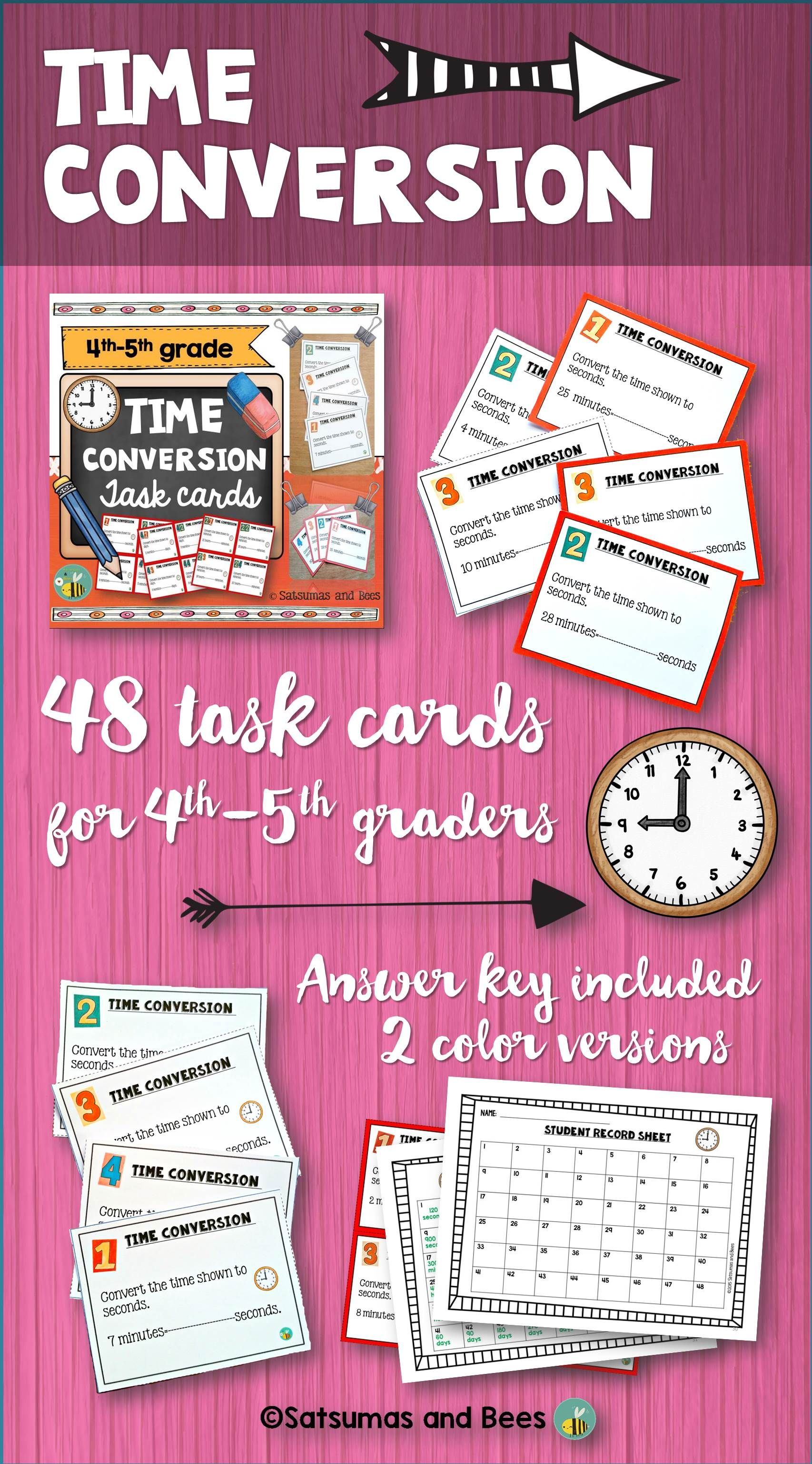 Measurement Time Conversion Task Cards