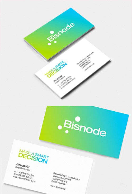 Beautiful Examples Of Gradient Business Cards  Business Cards