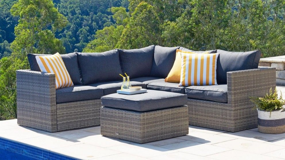 aria 3 piece outdoor modular lounge setting outdoor lounges