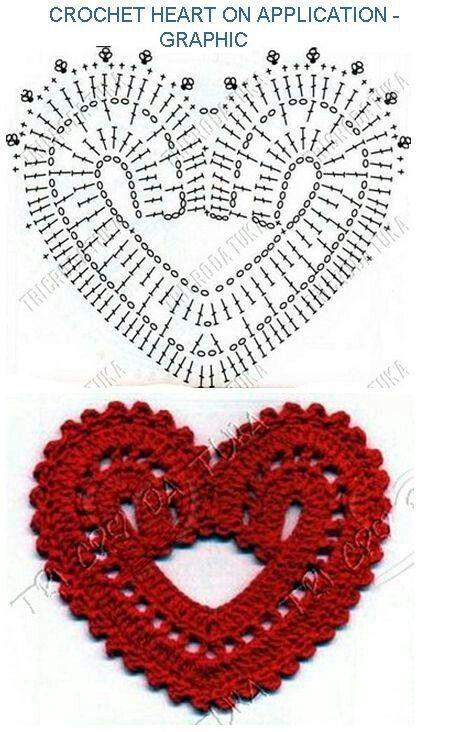 Corazon crochet | Crochet Flowers & Hearts | Pinterest | Patrones ...