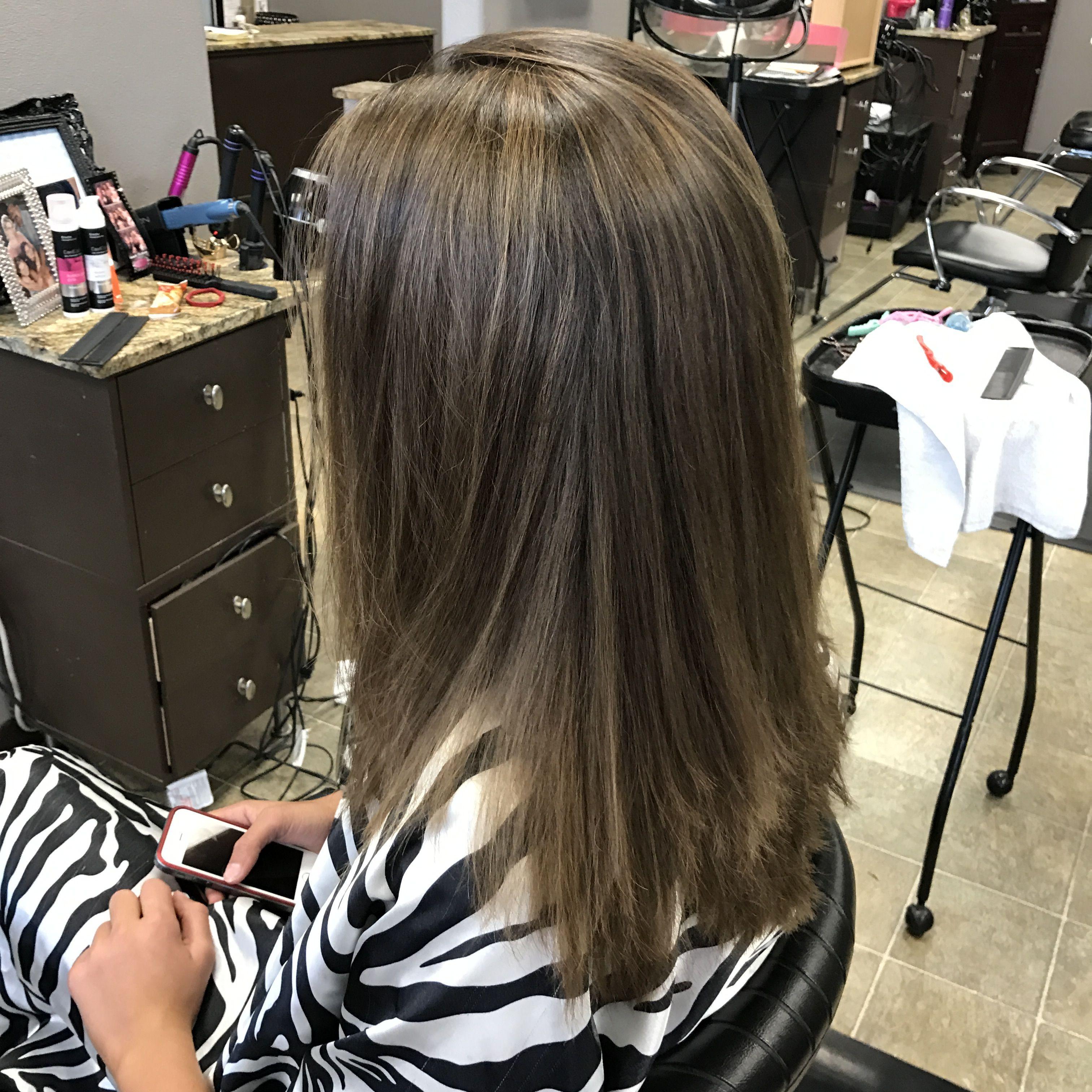 Medium Length Hair Soft Highlights Salon Work Pinterest