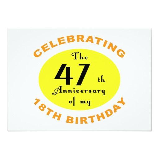 65th Birthday Gag Gift 5x7 Paper Invitation Card
