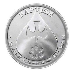 Baptism Silver 1oz Round Custom Mints Silver Display Silver Bullion
