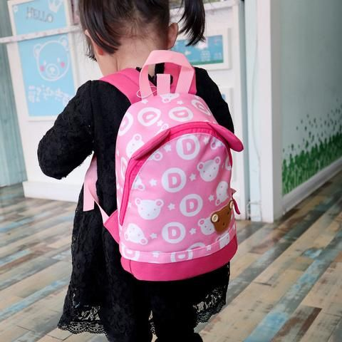 2018 New School Bags Anti-lost Kids Baby Bag Cute Bear Pattern Backpacks  For Boys Girls Small Bag Children Kindergarten Backpack c2cece1958