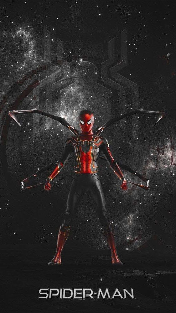 The Iron Spider Man Iphone Wallpaper Wallpaper Wallpapers
