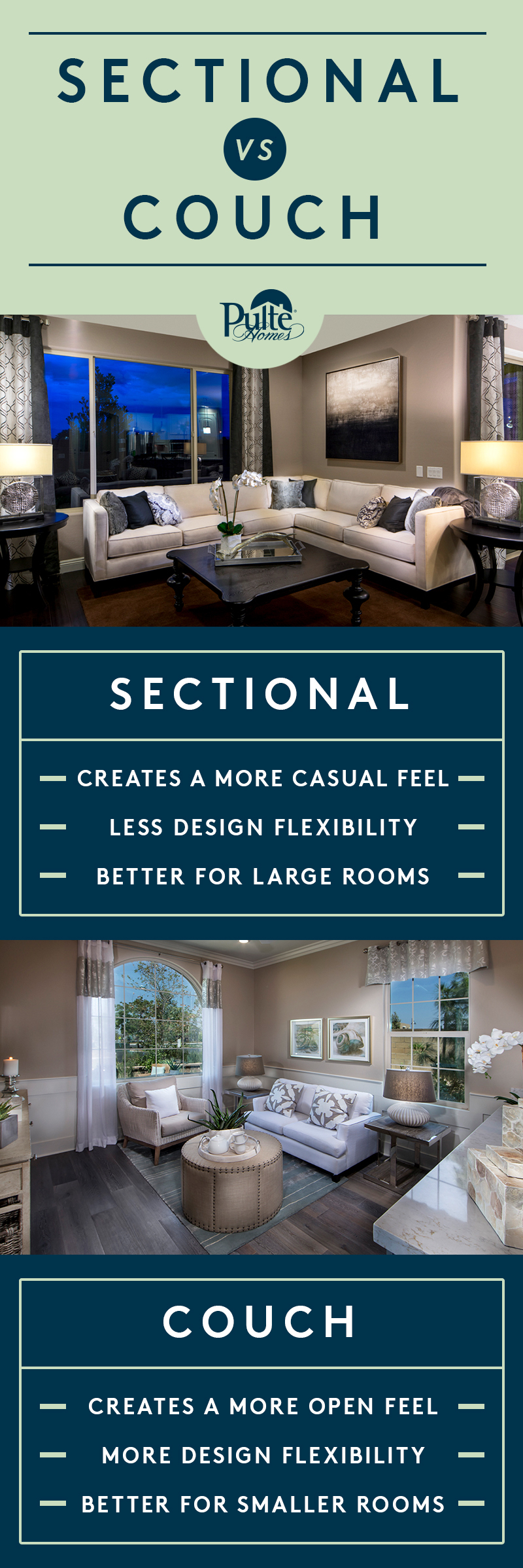 Itu0027s the ultimate living room dilemma Sectional vs. Sofa. Our design tips will : sectional vs sofa - Sectionals, Sofas & Couches