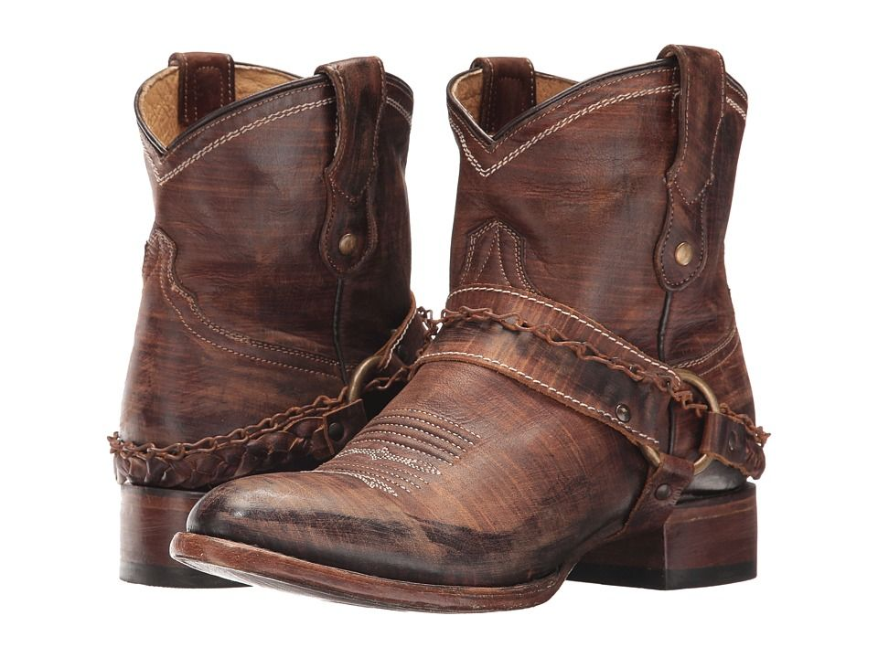 3332dda9869 Roper Selah Cowboy Boots Brown Leather | Products | Ankle cowboy ...