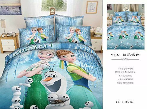 Lt Twin Full Queen Size 4-pieces 100% Cotton 3d Frozen Princess ...