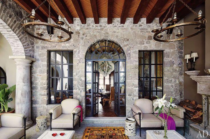 san miguel de allende interior design | ... living room of a converted tannery in San Miguel de Allende, Mexico