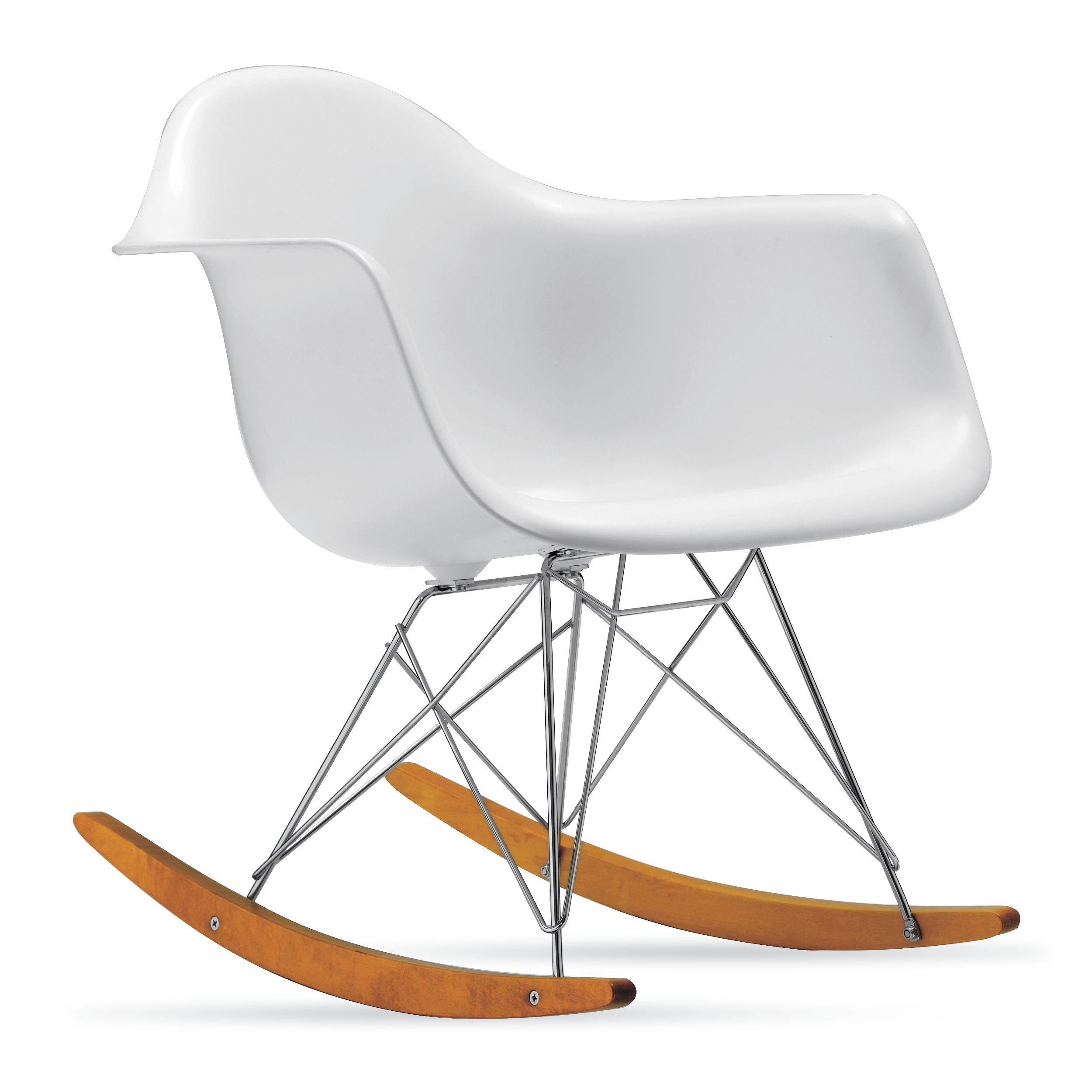 Eames Molded Plastic Rocker Rar Chaise A Bascule Eames Chaise A Bascule Chaise Design