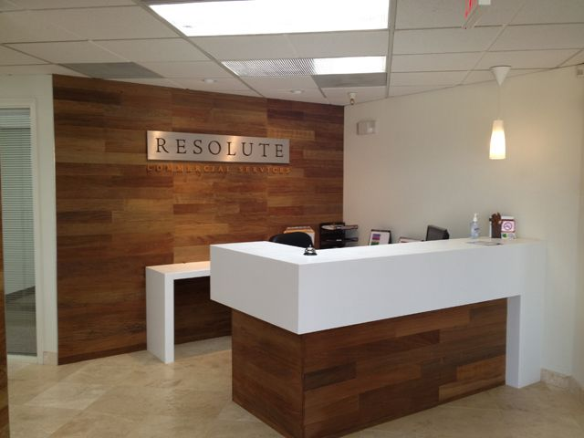 Custom Reception Desk Resolute Commercial Services Scottsdale Az Reception Desk Office Reception Design Reception Desk Design