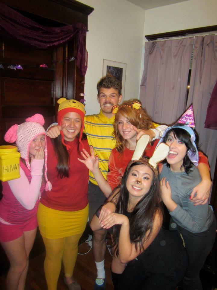 Winnie the Pooh Halloween Costume! #college #diy #halloween  sc 1 st  Pinterest & Winnie the Pooh Halloween Costume! #college #diy #halloween ...