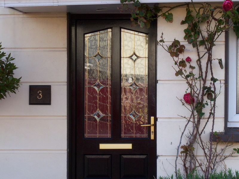 Front Doors Coloured Double Glazed