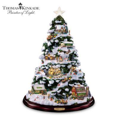 Good Thomas Kinkade Tabletop Christmas Tree: John Deere Winter Wonderland   View  Sale Price Escape To