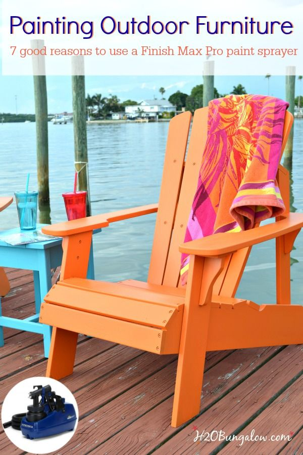 Using Patio Furniture Indoors: Paint Outdoor Furniture With A Paint Sprayer
