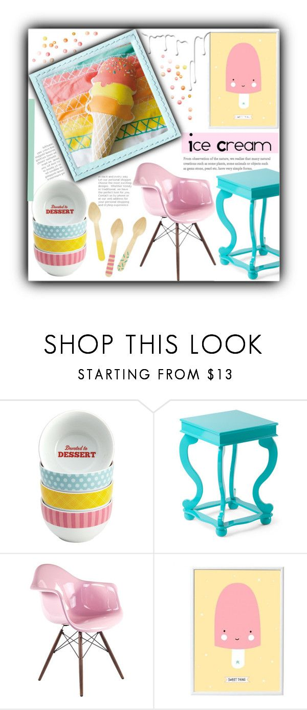 """Ice Cream Home Decor"" by modest-cute ❤ liked on Polyvore featuring interior, interiors, interior design, home, home decor, interior decorating, Cake Boss, Nivea and icecreamtreats"