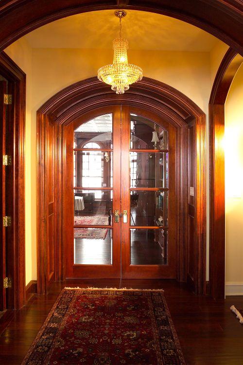 Custom Interior Door Beautiful Gl Elliptical French Doors Chunky Cherry Trim Buffalo Ny Quaker Millwork